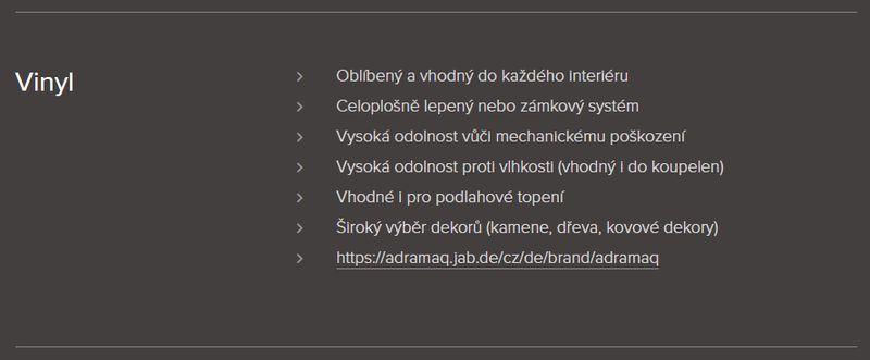 Podlahářství BOHEMIA Jiří Hochman - Pokládka vinylových podlah