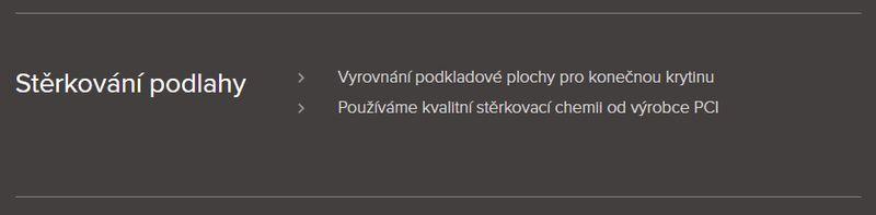 Podlahářství BOHEMIA Jiří Hochman - Stěrkováni podlah před pokládkou